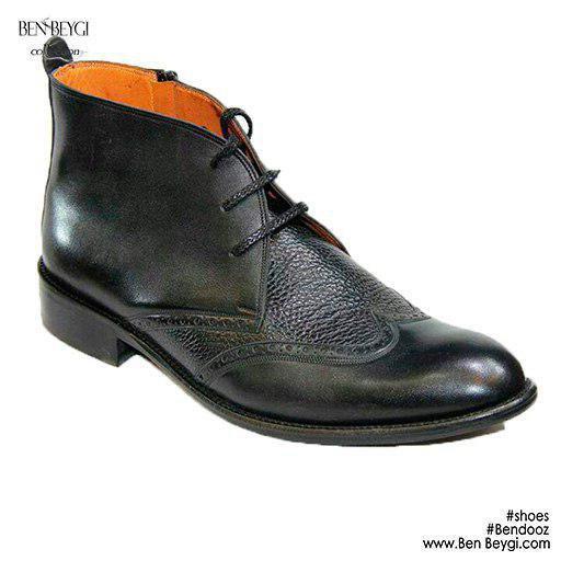 مدل کفش مردانه نیم بوت بندی زیپی