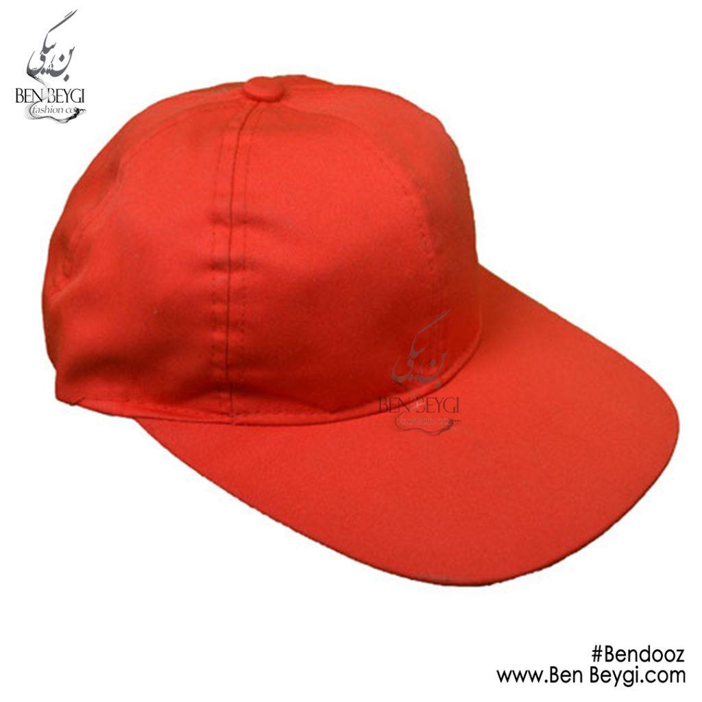 کلاه کتان قرمز با بندوز