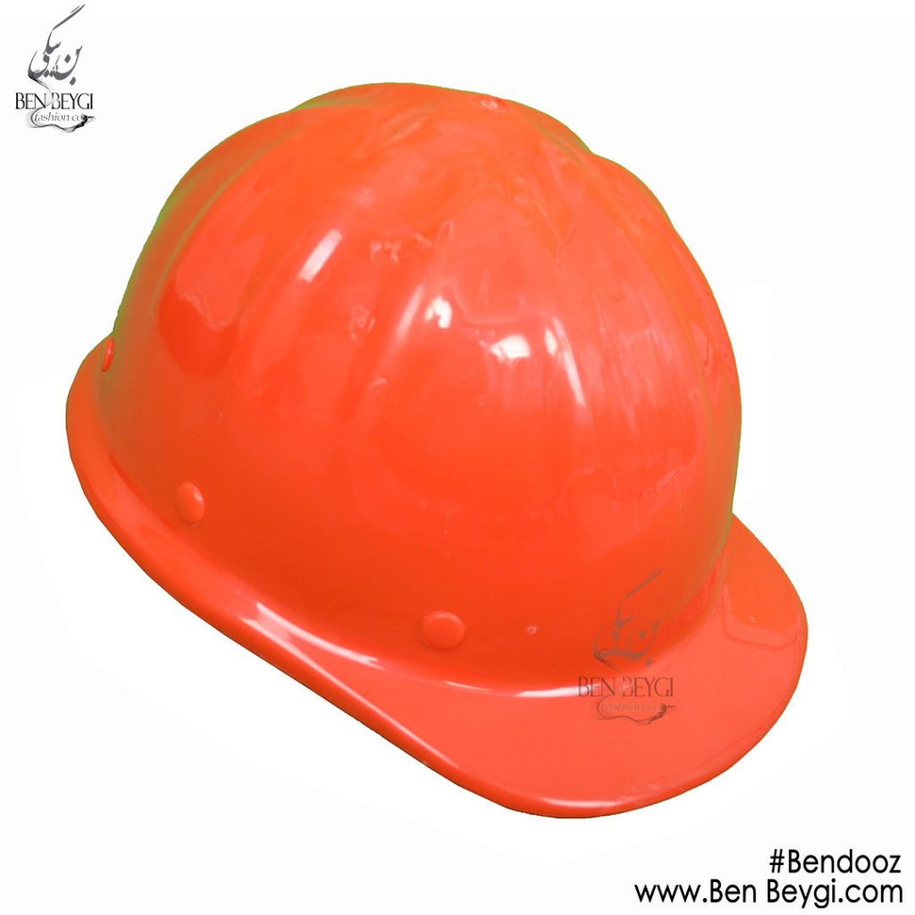 کلاه ایمنی قرمز با بندوز