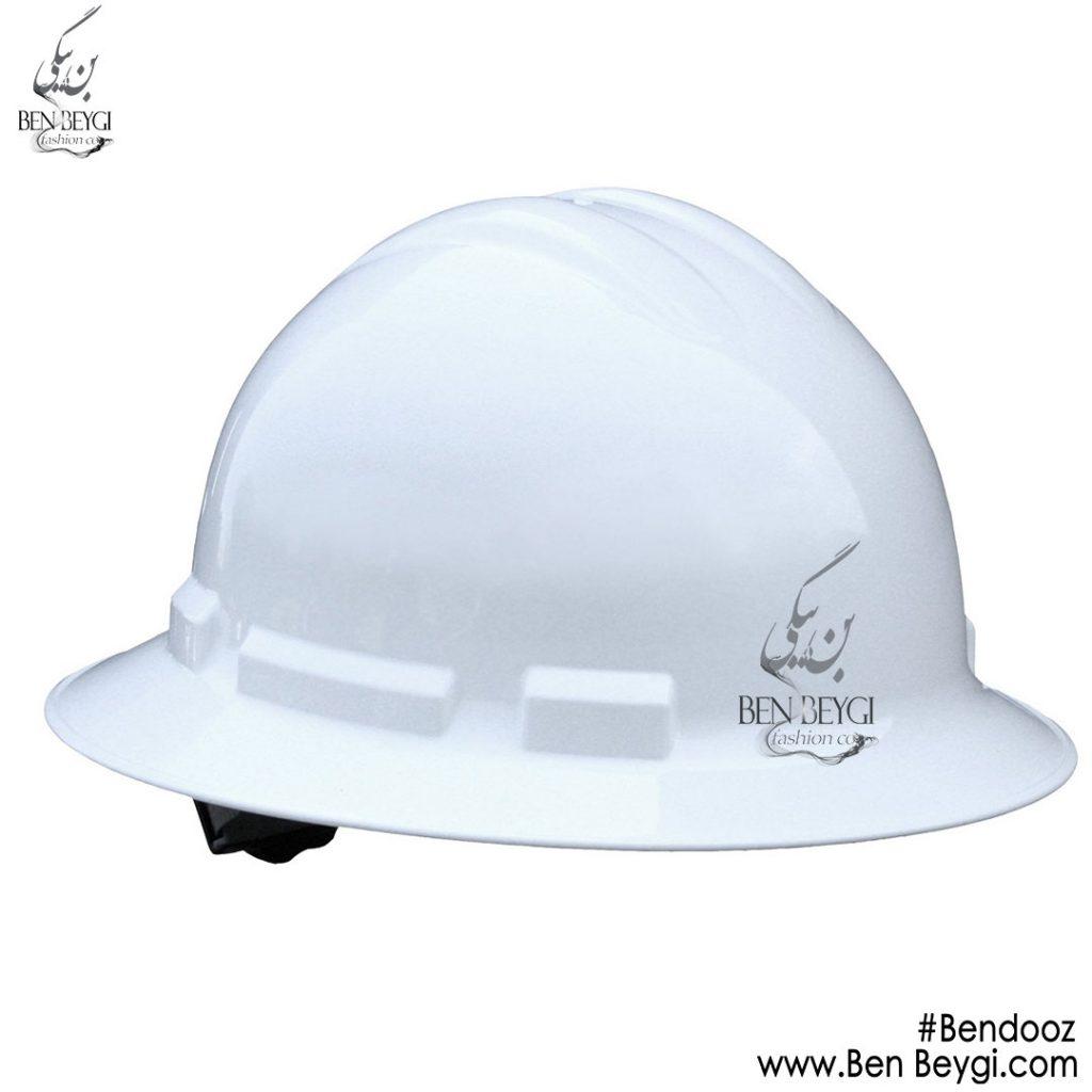کلاه ایمنی سفید بندوز کد ira7048