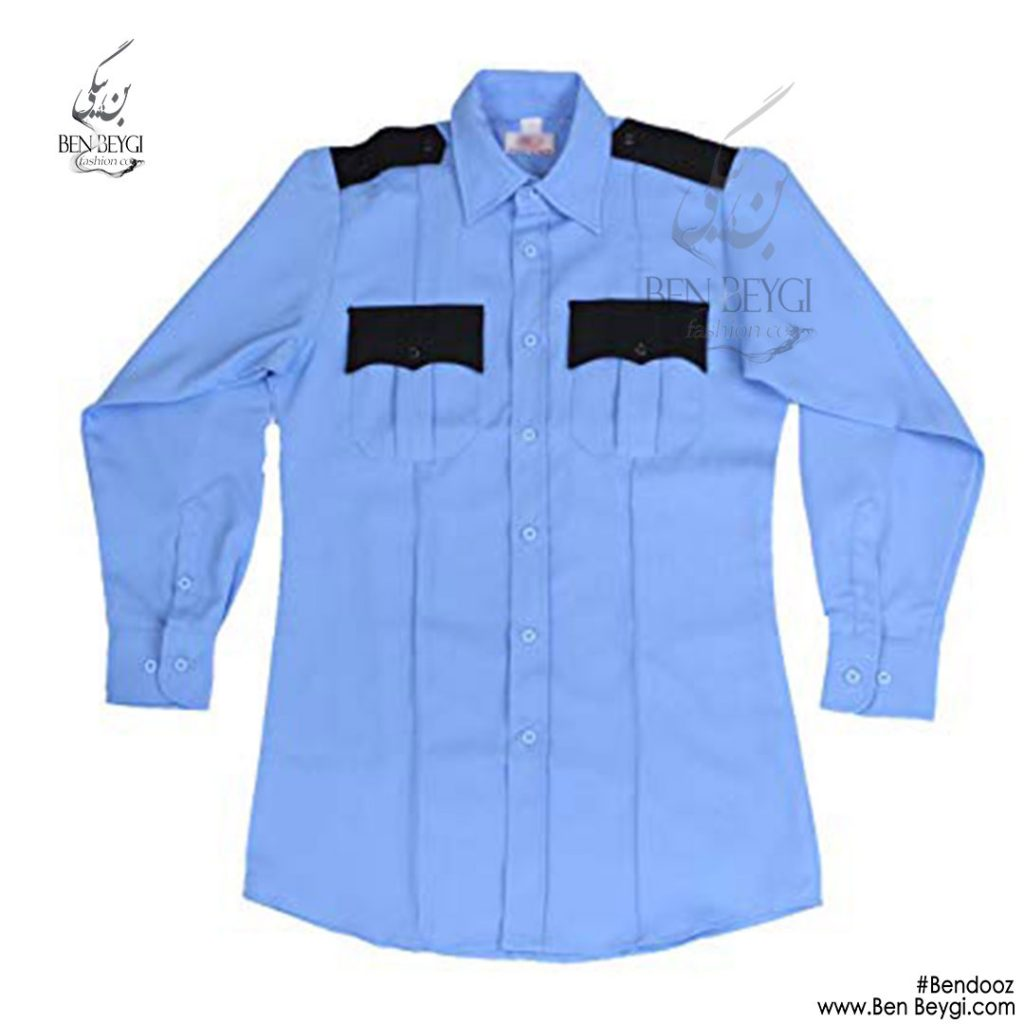 پیراهن حفاظتی نگهبانی رنگ آبی آسمانی کد 9924