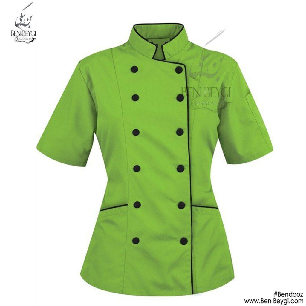 پیراهن-ده-دکمه-زنانه-سبز