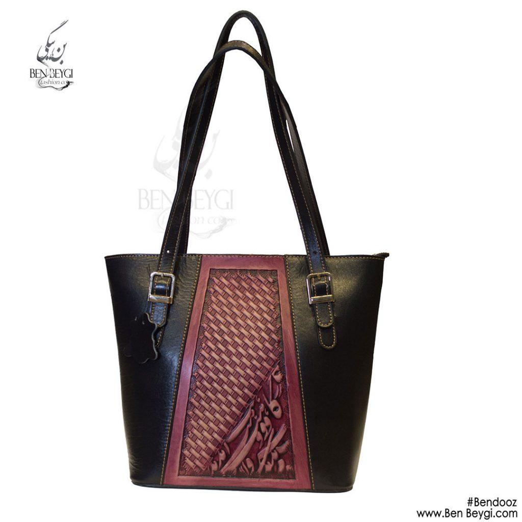 کیف چرم دو رنگ 207