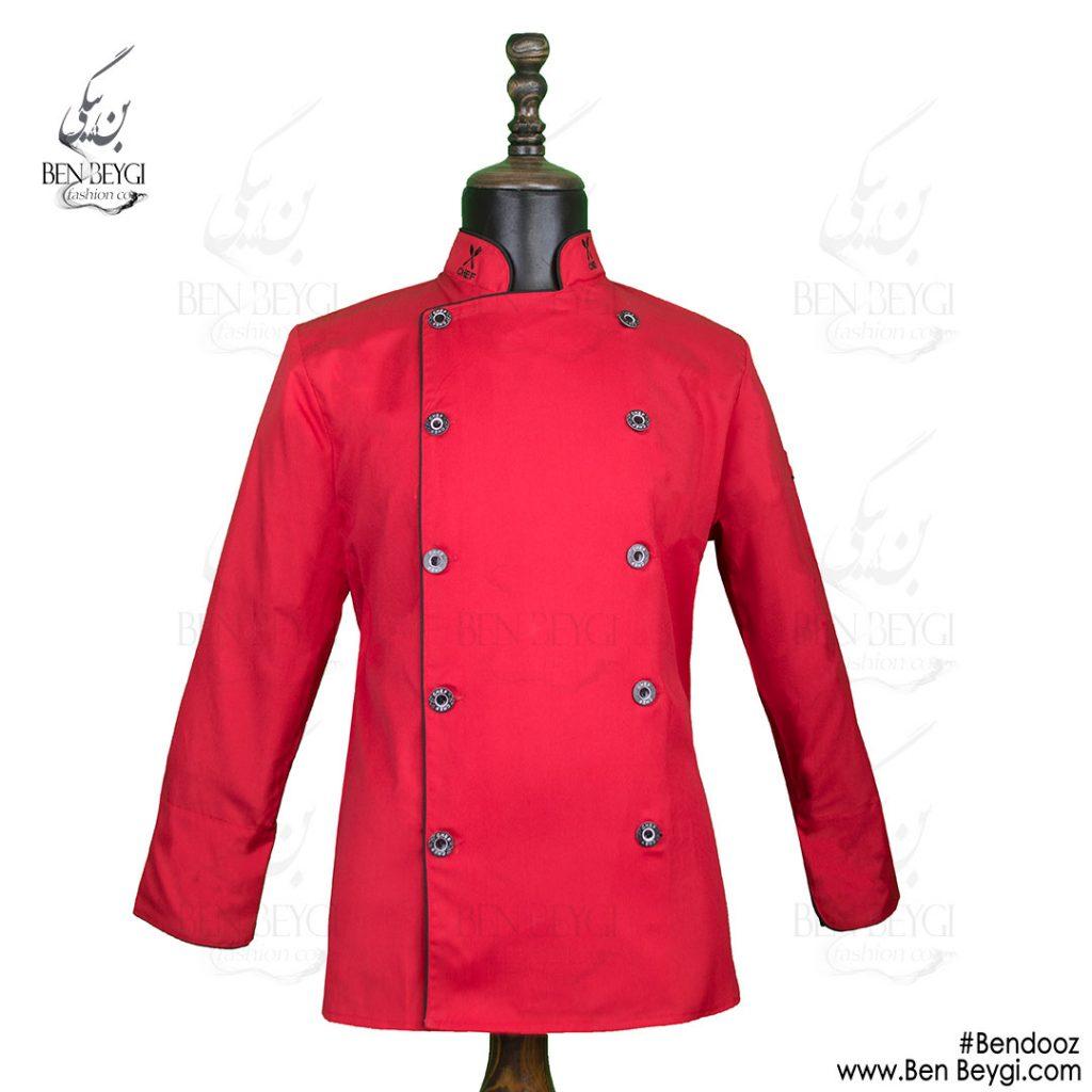 پیراهن-سرآشپزی-قرمز-با-بندوز[www.benbeygi.com]